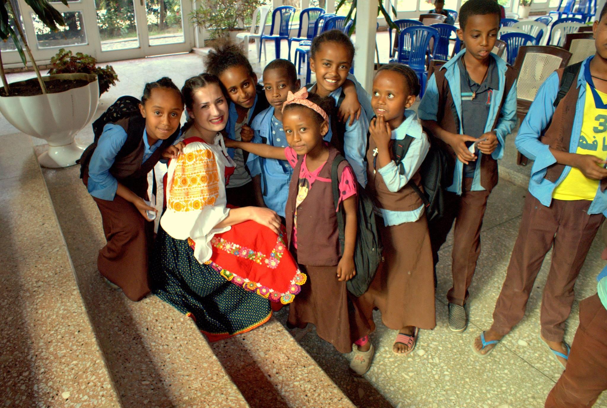 Tábor pre deti v Etiópii
