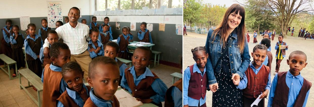 Etiopia Bishoftu Skola meni svet k lepsiemu Foto